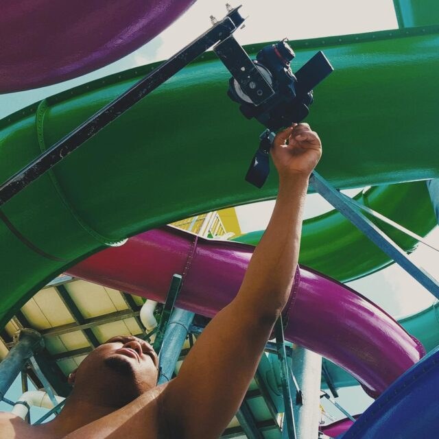 Water + slides + content shoots = creativity in the sun 📸 ⛱ ☀ #FlashbackFriday #waterparks #summer #creativecontent #passion #creativeagency
