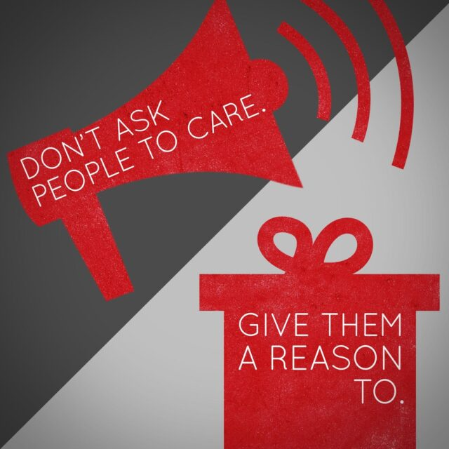 What's better — a sales pitch, or a gift without ulterior motives?  #mondaythoughts #motives #compassion #caring #passion #DOMtruths #creativeagency